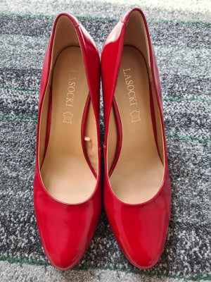 Rote Schuhe Pumps Lasocki Leder neue