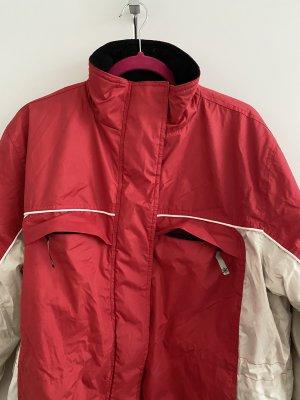 Rote (Ski) Winterjacke mit Fleece innen