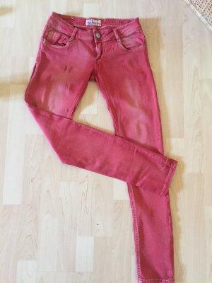 California & Co Pantalone a sigaretta rosso Cotone