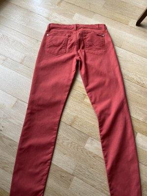 Rote Skinny Jeans von Seven for all mankind
