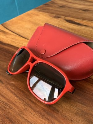 Rayban Angular Shaped Sunglasses black-red