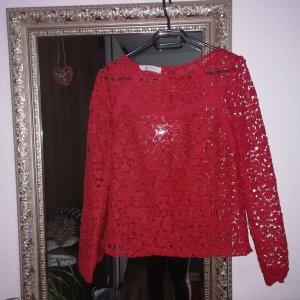Rote Spitze- Bluse von Promod