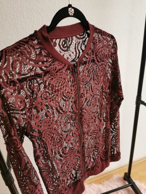 Only Mesh Shirt bordeaux-brown red