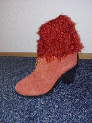Bottes de neige rouge foncé-noir