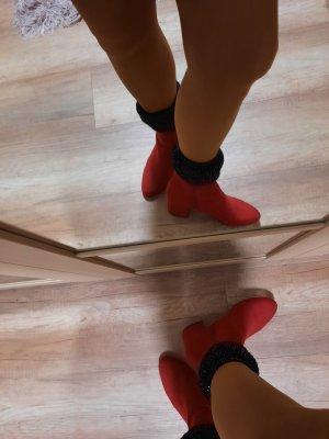 Dorothy Perkins Cut Out Booties dark red