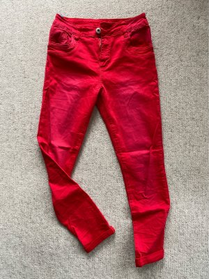 Stretch jeans rood