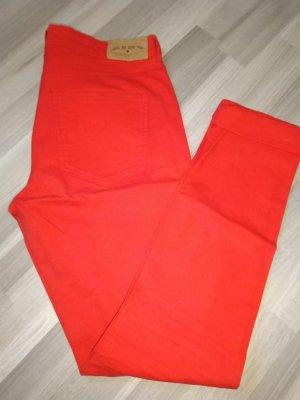 H&M Pantalón de tubo rojo