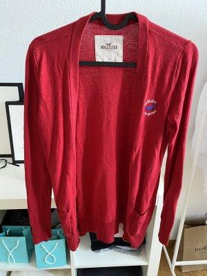 Rote Strickjacke von Hollister