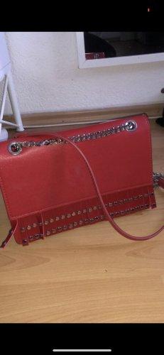 Zara Sac à franges rouge-argenté