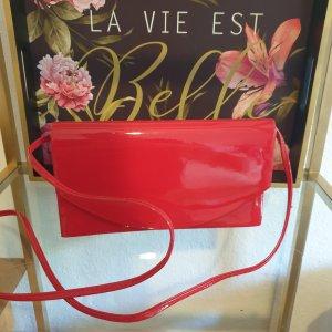 Rote Tasche Lackleder Neu! Vintage Clutch Umhängetasche Elegant Top!