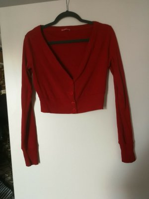 Terranova Knitted Bolero red cotton