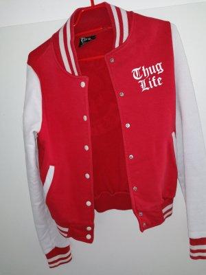 Rote Thug Life Jacke