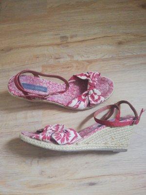 Rote Tommy Hilfiger Sandalen mit Blumenmuster