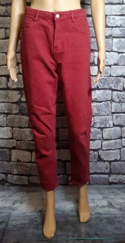 Rote Trafaluc denimwear Zara Jeans in Größe 36