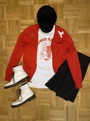 Rote Trendy Cardigan