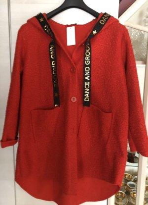 0039 Italy Płaszcz z kapturem czerwony