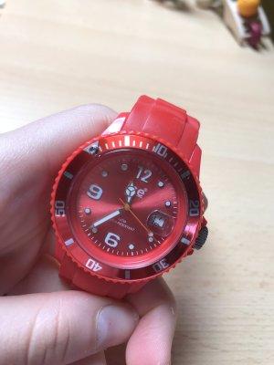 rote Uhr von ICE Watch