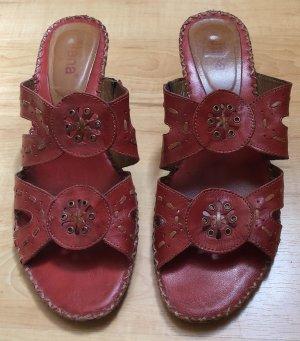 Rote verspielte Sandaletten von Jana! Sehr guter Zustand!