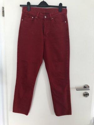 Rote Vintage Fit Jeans