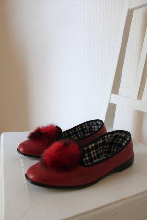 Rote Vintage-Halbschuhe