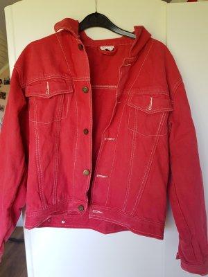 rote Vintage Jeansjacke