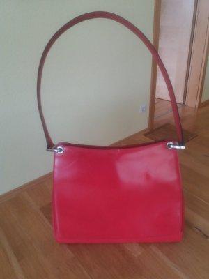 Rote Vintage Lackleder Tasche von Bally