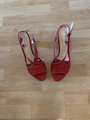 Rote Vintage Sandalette von Claudio