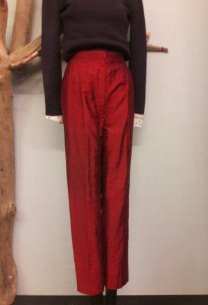 rote Vintage Seidenhose Gr M