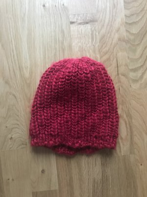 Pieces Knitted Hat carmine