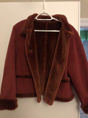 Fake Fur Jacket carmine