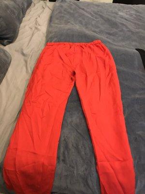 H&M Pantalone Marlene rosso-rosso mattone