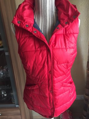 Takko Fashion Chaleco con capucha rojo