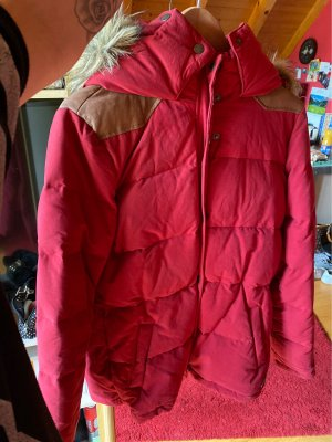 H&M L.O.G.G. Hooded Coat dark red-light brown