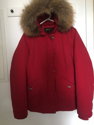Giacca in pelliccia rosso