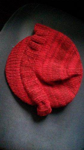 rote Wollschirmmütze mit Innenfleece