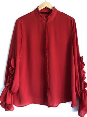 Rote Zara Bluse