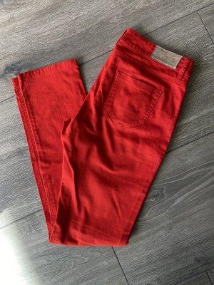Zara Basic Jeansy z prostymi nogawkami czerwony