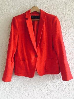 Zara Basic Blazer tejido rojo-rojo ladrillo