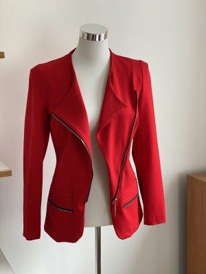 Blazer en jersey rouge