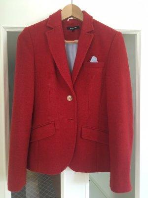 More & More Blazer en tweed rouge foncé-rouge