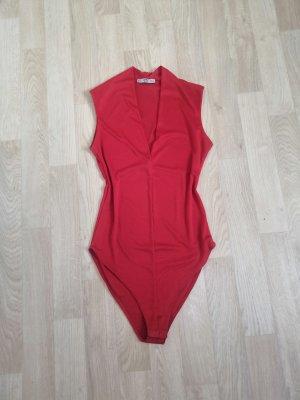 Zara Bodysuit Blouse red