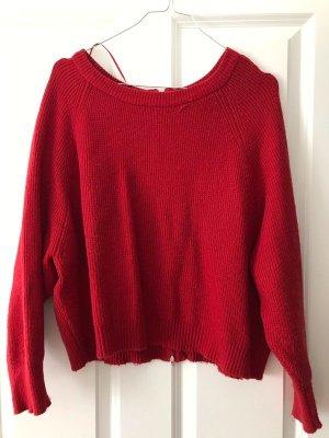 Roter Boxy Sweater Zara