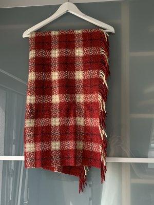 Roter Burberry Schal mit Fransen aus Merinwolle & Cashmere