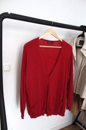 Roter Cardigan Bershka