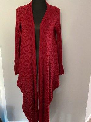 Crochet Cardigan dark red