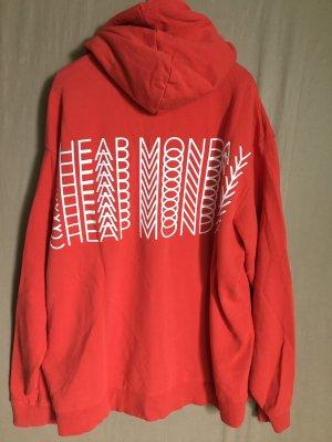 Cheap Monday Bluza z kapturem czerwony-jasnoczerwony