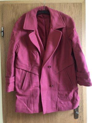 Heavy Pea Coat bright red