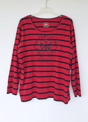 Basler Fine Knit Jumper red-black cotton