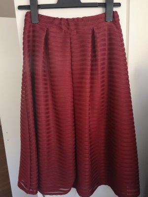Tkmaxx Flared Skirt dark red