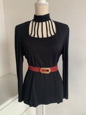 Cintura in tessuto rosso-oro